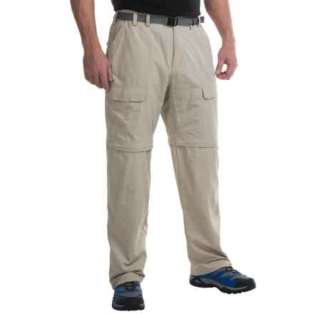 White Sierra Trail Pants - Convertible (For Men) in Stone - Closeouts