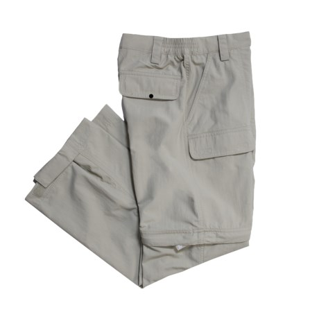 White Sierra Trail Pants - UPF 30, Convertible (For Boys) in Stone