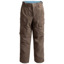 White Sierra Trail Pants - UPF 30, Convertible (For Little & Big Boys) in Bark - Closeouts