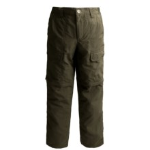 White Sierra Trail Pants - UPF 30, Convertible (For Little & Big Boys) in Dark Sage - Closeouts