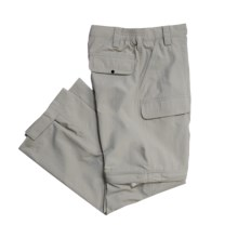 White Sierra Trail Pants - UPF 30, Convertible (For Little & Big Boys) in Stone - Closeouts