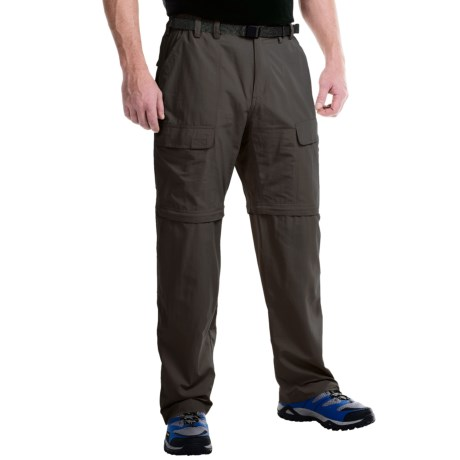 White Sierra Trail Pants - UPF 30, Convertible (For Men) in Dark Sage