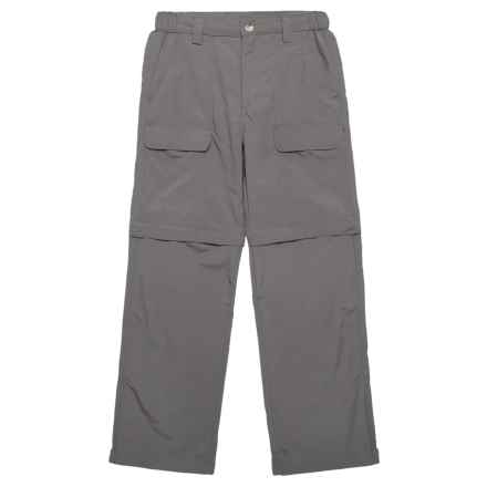 White Sierra Trail Pants - UPF 30, Convertible (For Youth) in Castlerock - Closeouts