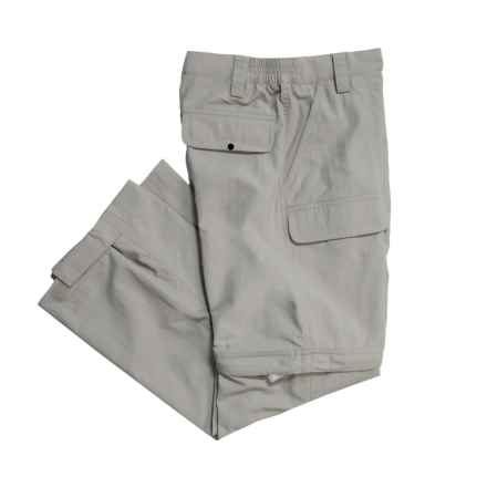 White Sierra Trail Pants - UPF 30, Convertible (For Youth) in Stone - Closeouts