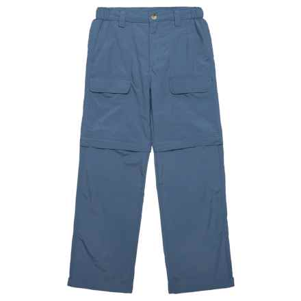 White Sierra Trail Pants - UPF 30, Convertible (For Youth) in Vintage Indigo - Closeouts