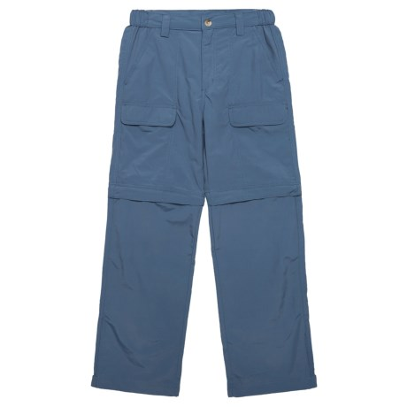 White Sierra Trail Pants - UPF 30, Convertible (For Youth) in Vintage Indigo