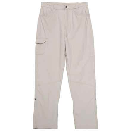 White Sierra Trail Roll-Up Pants - UPF 30 (For Little and Big Girls) in Pale Taupe - Closeouts