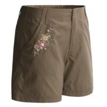 White Sierra Trail Shorts - UPF 30 (For Girls) in Bark - Closeouts