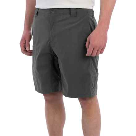 White Sierra Traveler Fixed Waist Shorts (For Men) in Caviar - Closeouts