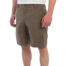 White Sierra Traveler Fixed Waist Shorts (For Men) in Dark Bark - Closeouts