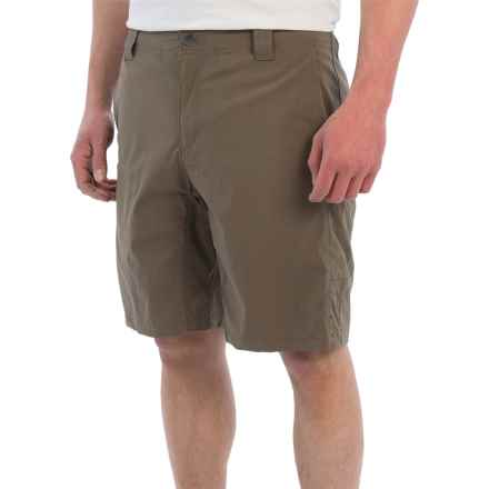 White Sierra Traveler Fixed Waist Shorts (For Men) in Dark Bark - Closeouts