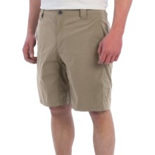 White Sierra Traveler Fixed Waist Shorts (For Men) in Khaki - Closeouts