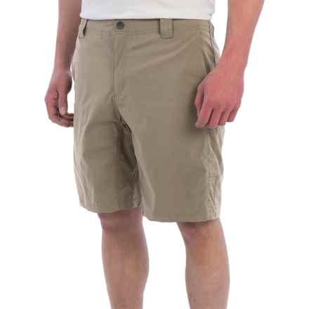 White Sierra Traveler Fixed Waist Shorts (For Men) in Khaki - Closeouts