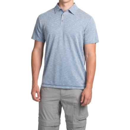 White Sierra Traveler Knit Polo Shirt - Short Sleeve (For Men) in Reef - Closeouts