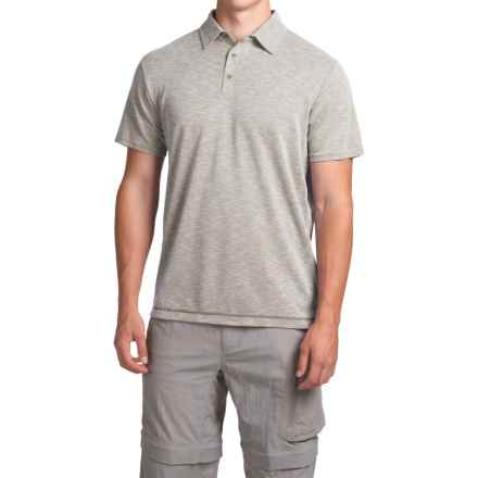 White Sierra Traveler Knit Polo Shirt - Short Sleeve (For Men) in Silver Grey - Closeouts
