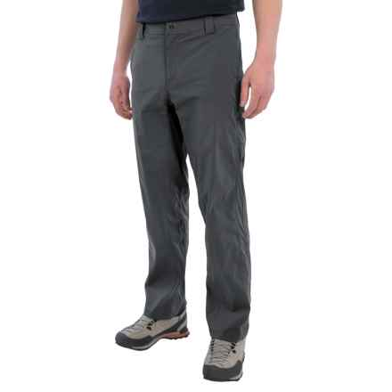 White Sierra Traveler Pants - Stretch Nylon (For Men) in Caviar - Closeouts
