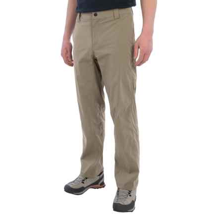 White Sierra Traveler Pants - Stretch Nylon (For Men) in Khaki - Closeouts