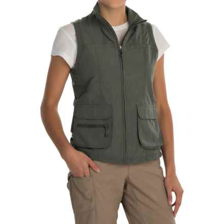 White Sierra Traveler Vest (For Women) in Caviar - Closeouts