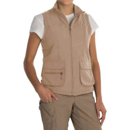 White Sierra Traveler Vest (For Women) in Khaki - Closeouts