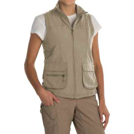 White Sierra Traveler Vest (For Women) in Stone - Closeouts