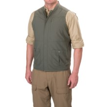 White Sierra Traveler Vest - UPF 30, Packable (For Men) in Caviar - Closeouts