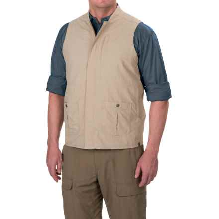 White Sierra Traveler Vest - UPF 30, Packable (For Men) in Khaki - Closeouts