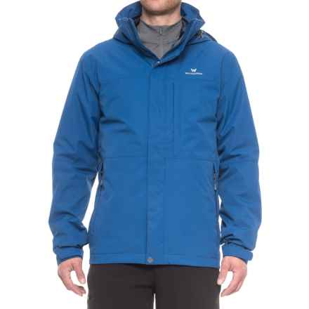 White Sierra Trifecta Interchange II Jacket - Insulated, 3-in-1 (For Men) in True Blue - Closeouts