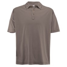 White Sierra Trinidad Falls Polo Shirt - Short Sleeve (For Men) in Bark - Closeouts