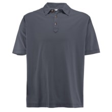 White Sierra Trinidad Falls Polo Shirt - Short Sleeve (For Men) in Caviar - Closeouts