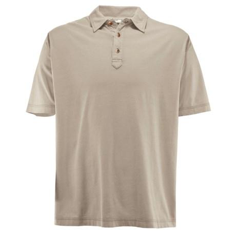 White Sierra Trinidad Falls Polo Shirt - Short Sleeve (For Men) in Adobe