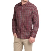 White Sierra Wentworth Plaid Shirt - Long Sleeve (For Men) in Cordovan - Closeouts