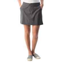 White Sierra West Loop Skort (For Women) in Asphalt - Closeouts