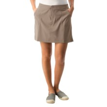 White Sierra West Loop Skort (For Women) in Bark - Closeouts