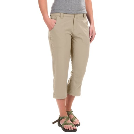 White Sierra West Loop Trail Capris (For Women) in Stone