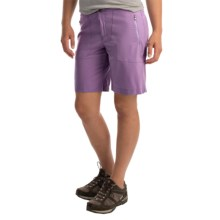 White Sierra West Loop Trail Shorts (For Women) in Aged Orchid - Closeouts