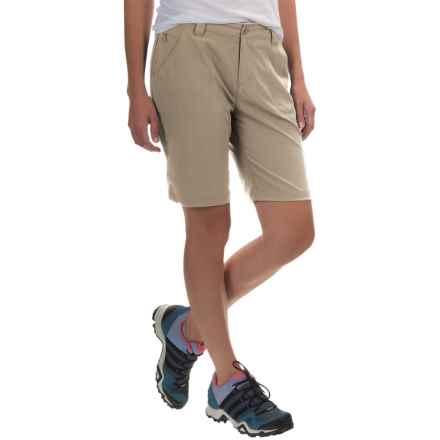 White Sierra West Loop Trail Shorts (For Women) in Stone - Closeouts