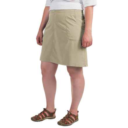 White Sierra West Loop Trail Skort (For Plus Size Women) in Stone - Closeouts