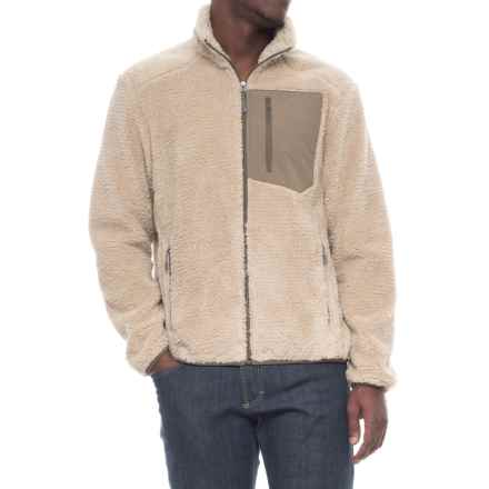White Sierra Wooly Bully Zip Cardigan Sweater (For Men) in Humus - Closeouts