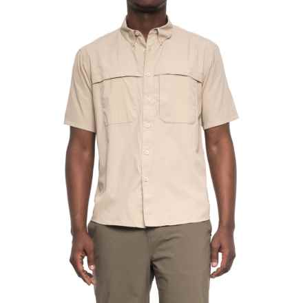 White Sierra Yellowstone Shirt - UPF 30, Short Sleeve (For Men) in Stone - Closeouts