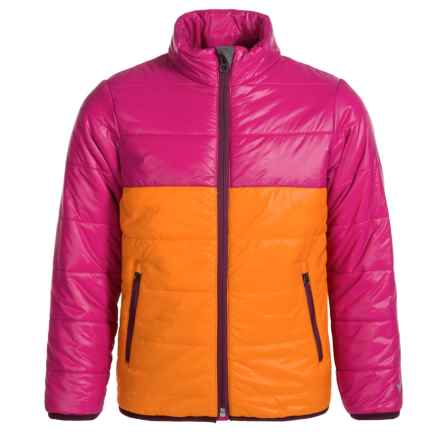 White Sierra Zephyr Jacket - Insulated (For Girls) in Orange Pepper - Closeouts