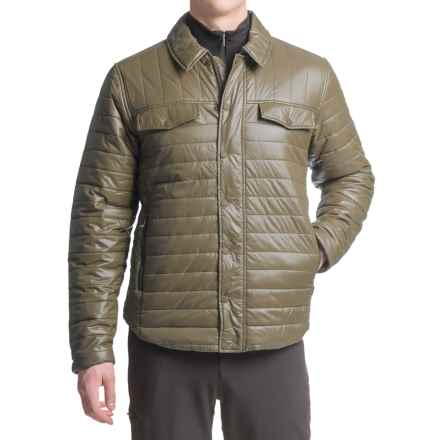 White Sierra Zephyr Quilted Shirt Jacket (For Men) in Bark - Closeouts