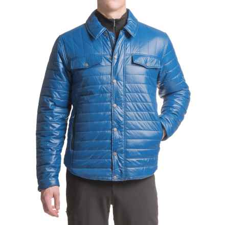 White Sierra Zephyr Quilted Shirt Jacket (For Men) in Shield Blue - Closeouts