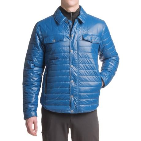 White Sierra Zephyr Quilted Shirt Jacket (For Men) in Shield Blue