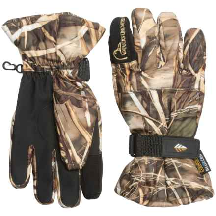 Whitewater DU Shooting Gloves - Waterproof, Insulated (For Men) in Realtree Max-5 - Closeouts