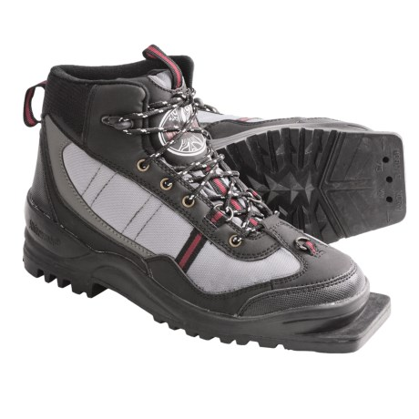 Whitewoods 301 Backcountry Touring Ski Boots - 75 MM (For Men and Women) in Black/ Grey