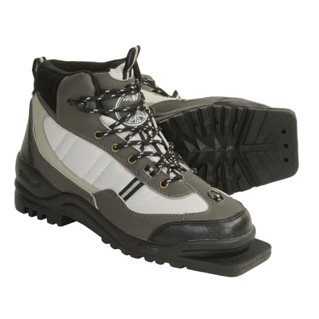 Whitewoods 301 Backcountry Touring Ski Boots - 75 MM (For Men and Women) in Grey/Offwhite/Black
