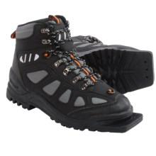 Whitewoods 301 Nordic Ski Boots - 75mm (For Men and Women) in Black/Orange - Closeouts