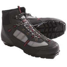Whitewoods 302 Nordic Ski Boots - Waterproof, NNN (For Men and Women) in Black/Grey/Red - Closeouts
