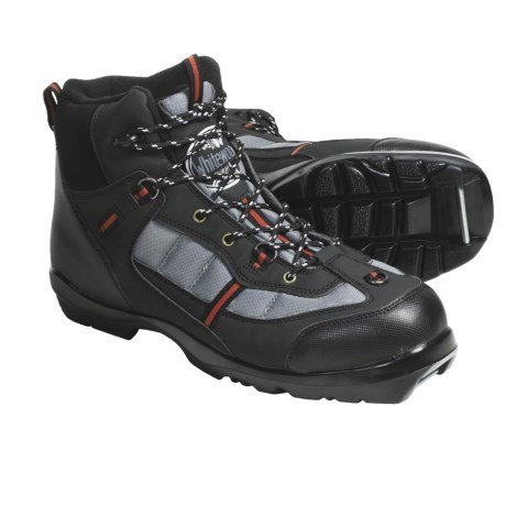 Whitewoods 306 Nordic Ski Boots - NNN BC (For Men and Women) in Black/ Grey