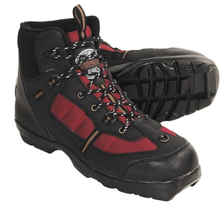 Whitewoods 306 Nordic Ski Boots - NNN BC (For Men and Women) in Black/Red/Tan